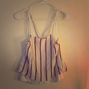 White and red crop top. Size Medium.